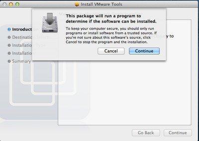Continue Continue - VMware – OS X 10.8 Mountain Lion sur PC Windows