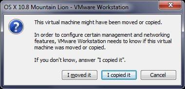 OS X 10.8 I copied - VMware – OS X 10.8 Mountain Lion sur PC Windows