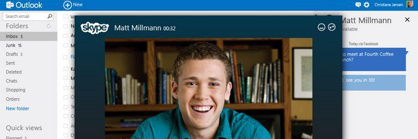 Outlook.com Skype - Outlook.com, le nouveau mail de Microsoft