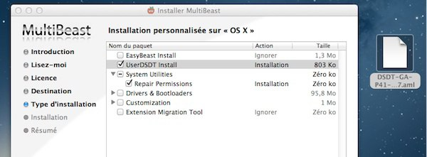 UserDSDT Install - Installer OS X Mountain Lion sur un PC