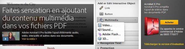 bandeau adobe acrobat x pro - De la vidéo dans un document PDF