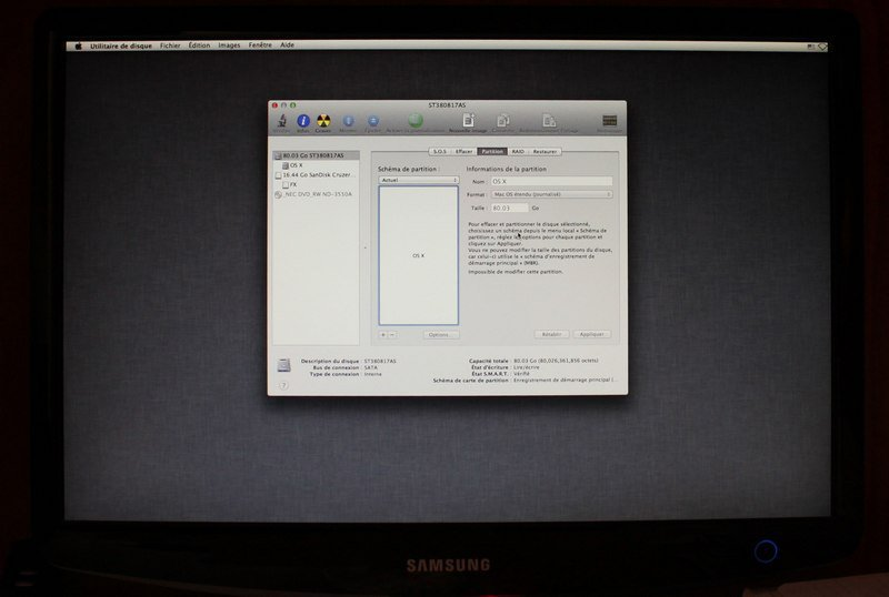 format os x1 - Installer OS X Mountain Lion sur un PC