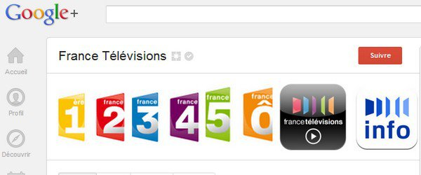 france television google plus - France TV plébiscite G+