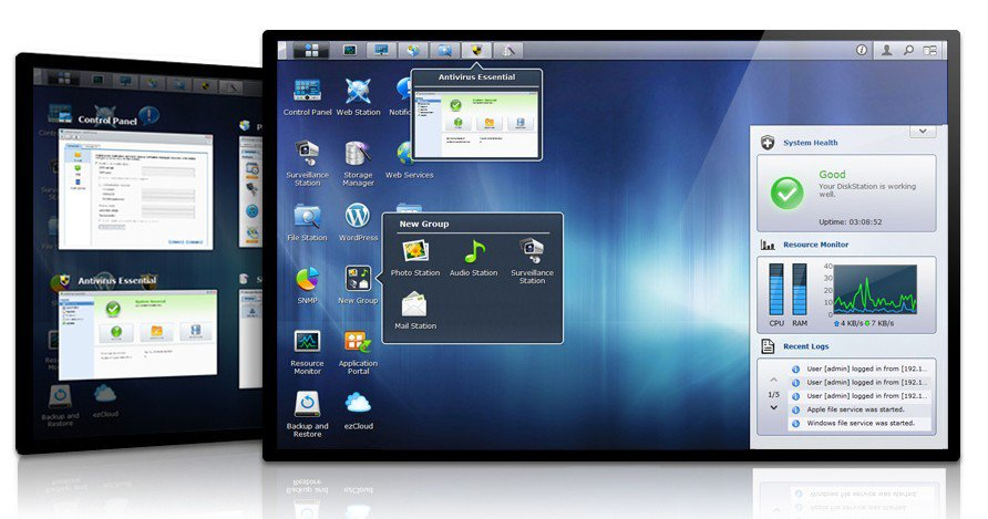 interface dsm 4.1 - DiskStation Manager 4.1 débarque