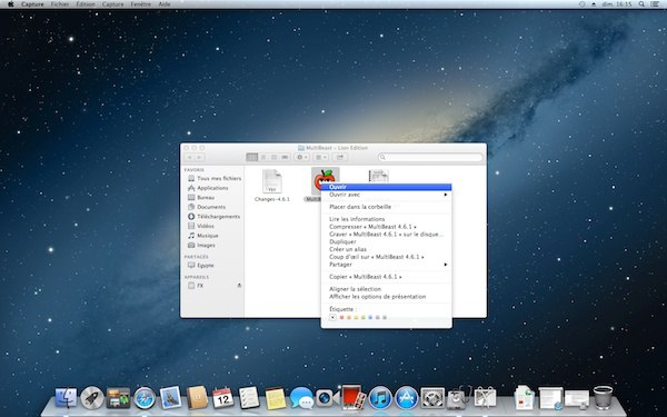 ouvrir MultiBeast - Installer OS X Mountain Lion sur un PC