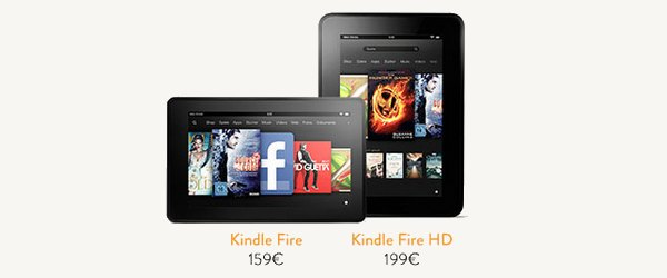 bandeau amazon kindle fire hd - Les tablettes Amazon débarquent...