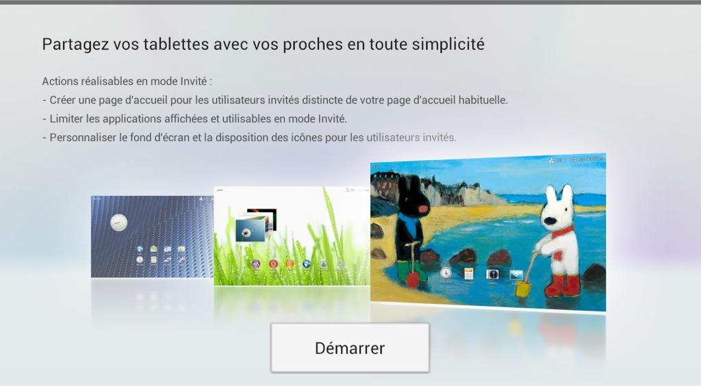 explication mode invite - Test Sony Xperia Tablet S