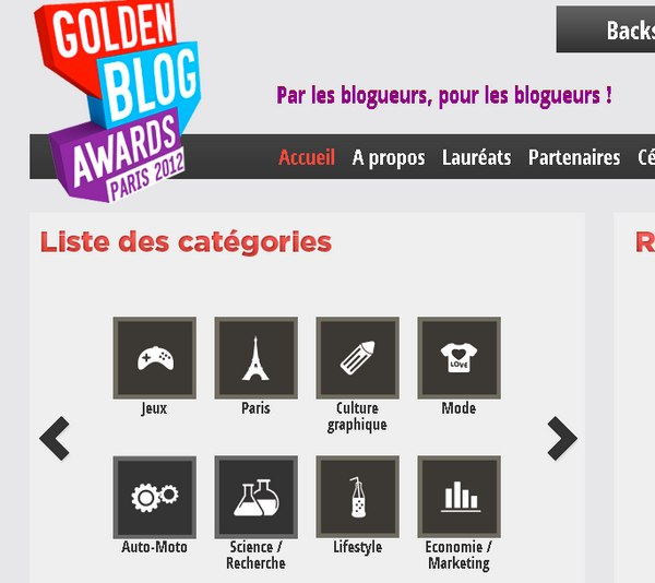 golden blog awards paris 2012 - Golden Blog Awards 2012 : C'est parti !