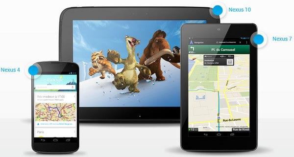Google Nexus - Google annonce les Nexus 4, 7 et 10