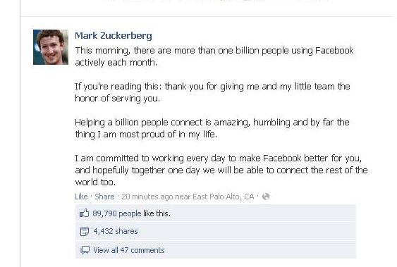 Message Mark Zuckerberg