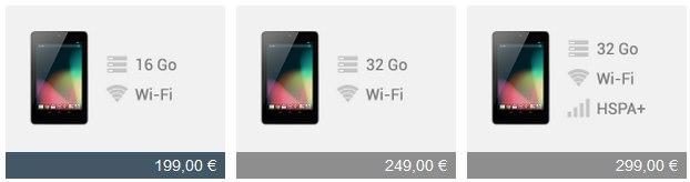 Nexus 7 - Google annonce les Nexus 4, 7 et 10
