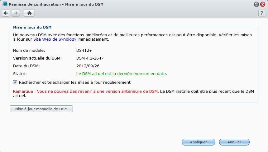 Synology DS213air DSM 4.1