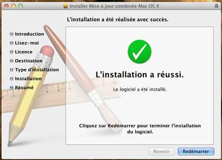 installation reussi redemarrage