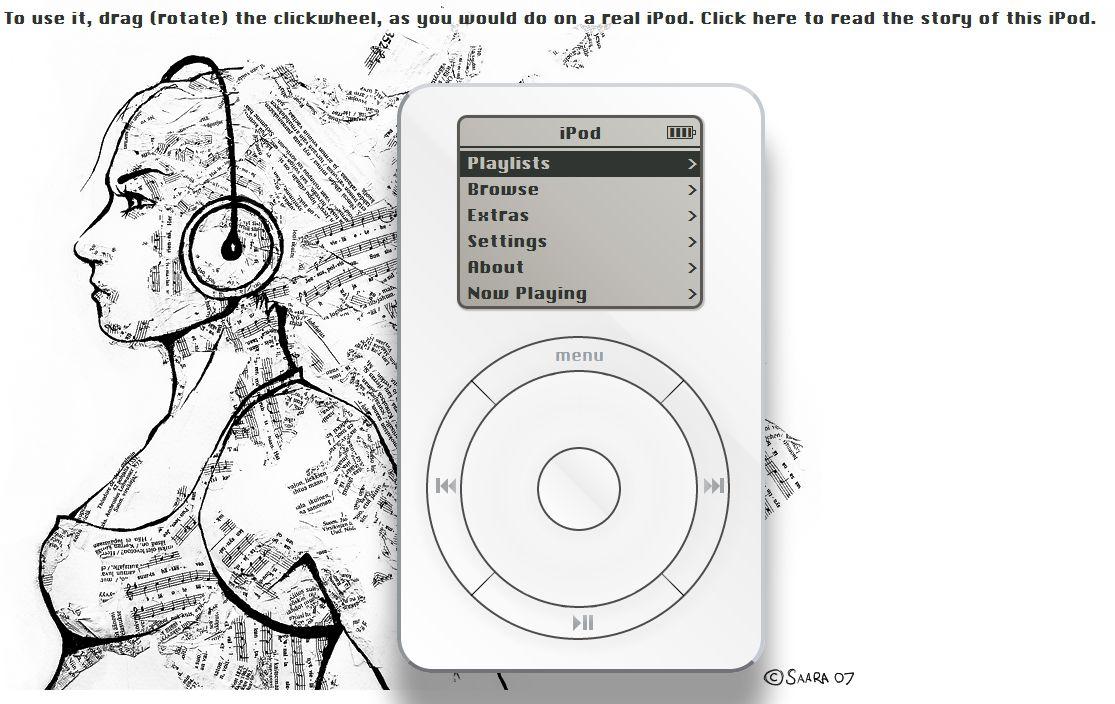 ipod web - Un iPod dans votre navigateur