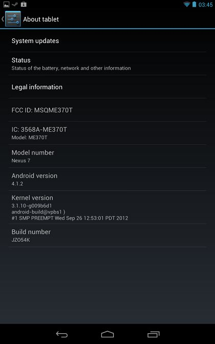 jelly bean 4.1.2 - Mise à jour Android 4.1.2