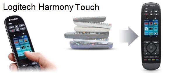 logitech harmony touch titre - Logitech Harmony Touch débarque