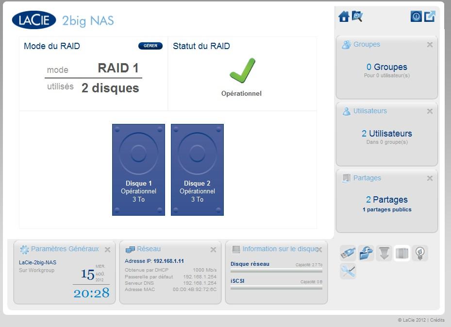 raid - Test LaCie 2big NAS
