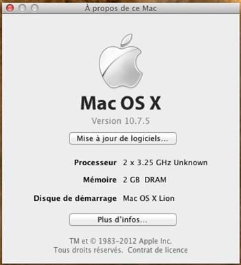 wmware os x 10.7.5 windows - VMware OS X 10.7.5 sous Windows