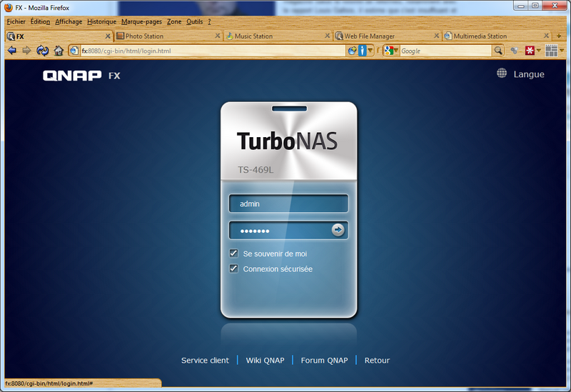 04 new login - Test du NAS QNAP TS-469L et firmware 3.8