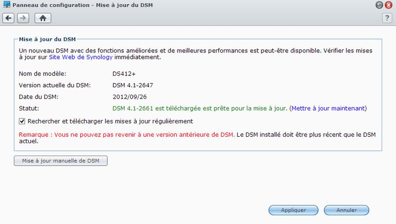 DSM 41 2647 - Synology DSM passe en version 4.1 2661
