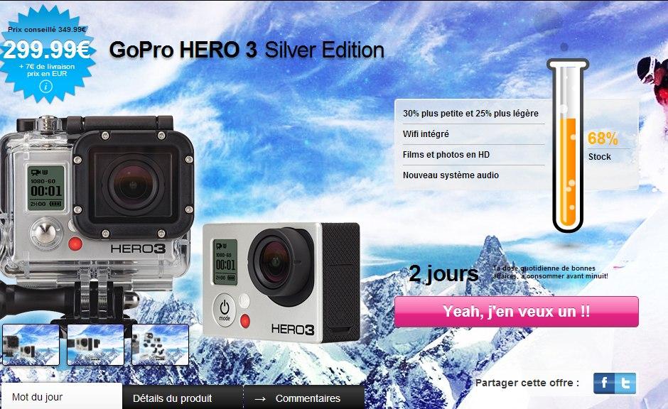 GoPro Hero 3 299 euro - GoPro HERO3 moins cher