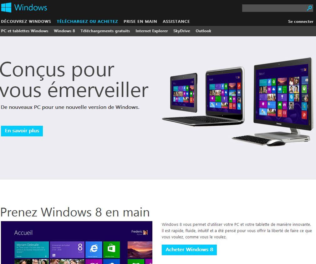 acheter windows 8