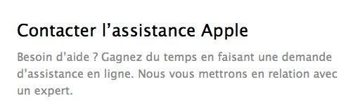 assistance apple - Apple, pourquoi je suis déçu !