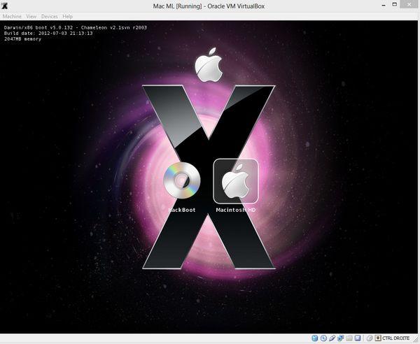 Choix disque demarrage - Comment installer OS X sur votre PC avec VirtualBox ?