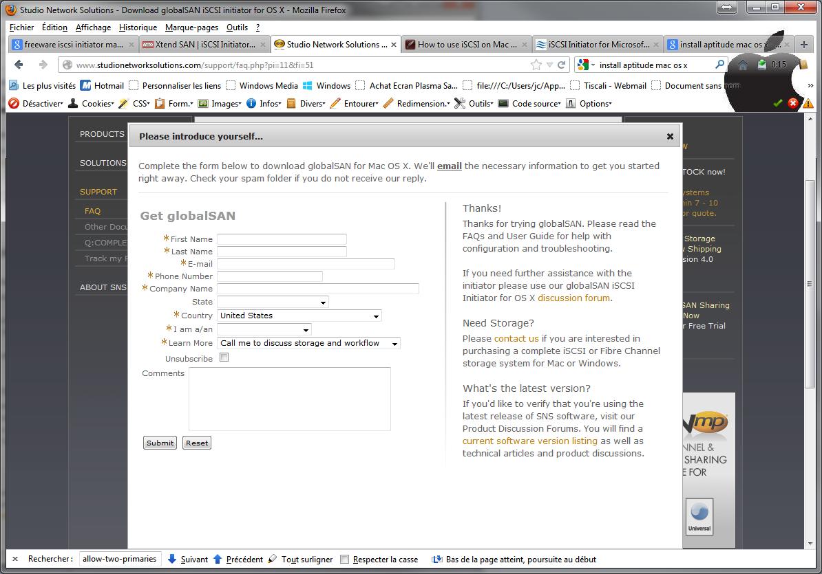Initiateur iSCSI MacOSX Download 2 - [MAJ] - Installer 2 serveurs de données (SAN) répliqués avec OpenMediaVault et DRBD