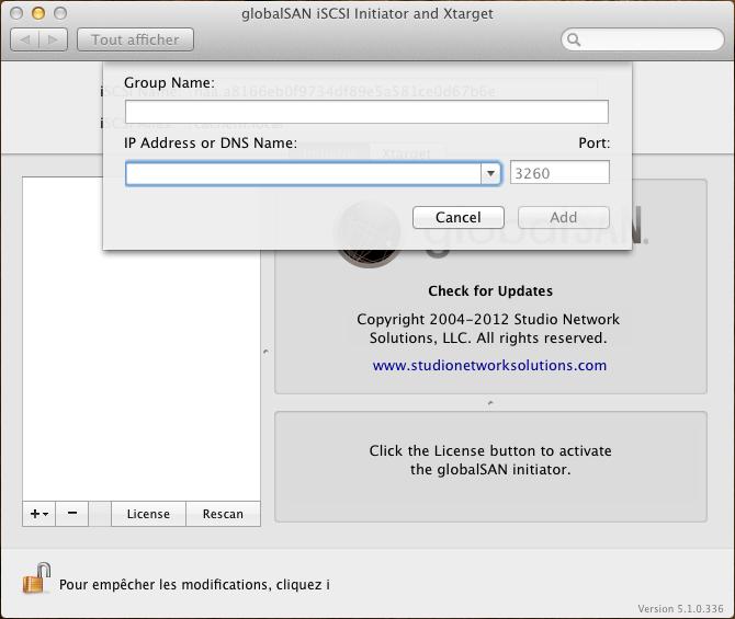 Initiateur iSCSI MacOSX Param 11 - [MAJ] - Installer 2 serveurs de données (SAN) répliqués avec OpenMediaVault et DRBD