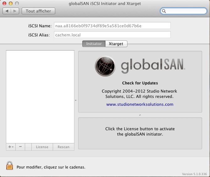Initiateur iSCSI MacOSX Param 2 - [MAJ] - Installer 2 serveurs de données (SAN) répliqués avec OpenMediaVault et DRBD