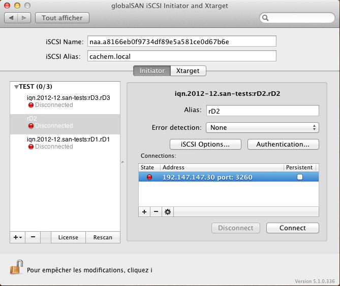 Initiateur iSCSI MacOSX Param 22 - [MAJ] - Installer 2 serveurs de données (SAN) répliqués avec OpenMediaVault et DRBD