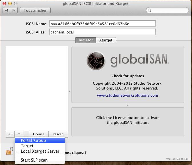 Initiateur iSCSI MacOSX Param 9 - [MAJ] - Installer 2 serveurs de données (SAN) répliqués avec OpenMediaVault et DRBD