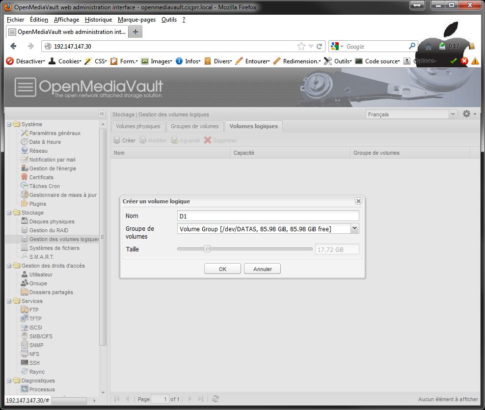OpenMediaVault LVM LV select - [MAJ] - Installer 2 serveurs de données (SAN) répliqués avec OpenMediaVault et DRBD