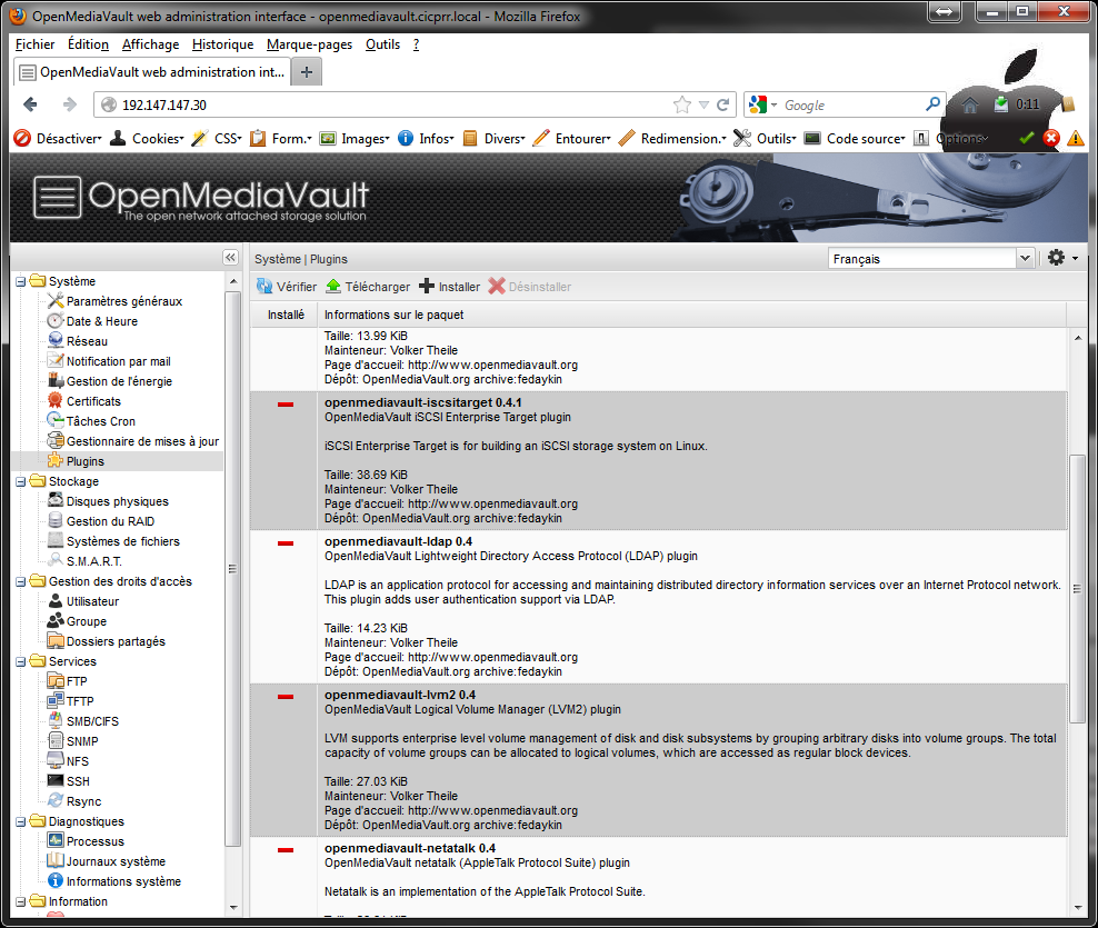 OpenMediaVault plugins - [MAJ] - Installer 2 serveurs de données (SAN) répliqués avec OpenMediaVault et DRBD