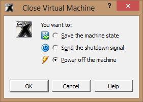 fermeture de la machine virtuelle - Comment installer OS X sur votre PC avec VirtualBox ?