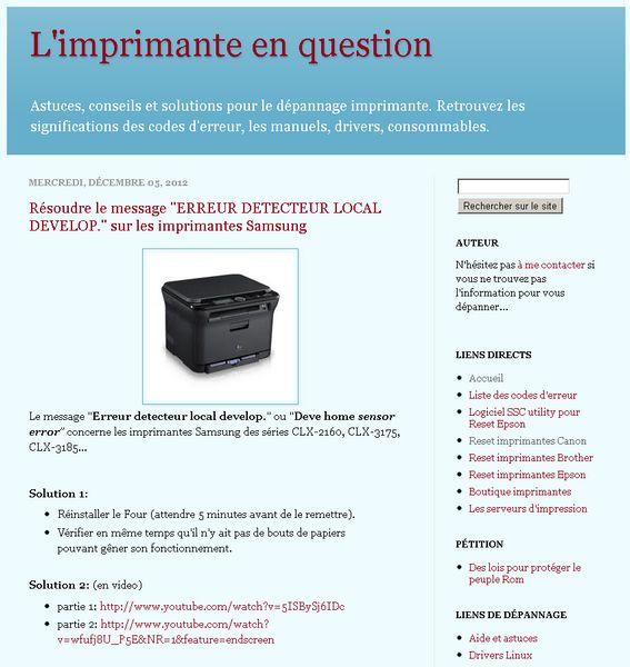 site imprimante - Trucs et Astuces pour votre imprimante