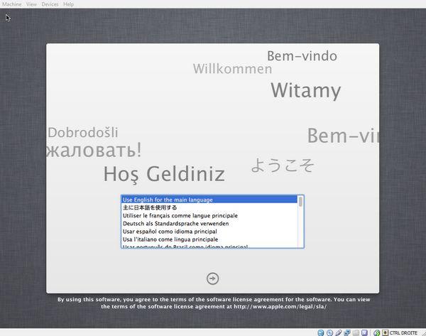 welcome - Comment installer OS X sur votre PC avec VirtualBox ?
