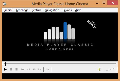 Media Player Classic Home Cinema - Comment lire un film Blu-ray avec Windows 8 ?