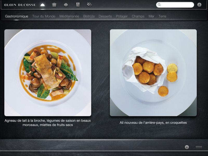 alain ducasse gastronomique - Application exceptionnelle pour des mets d'exception