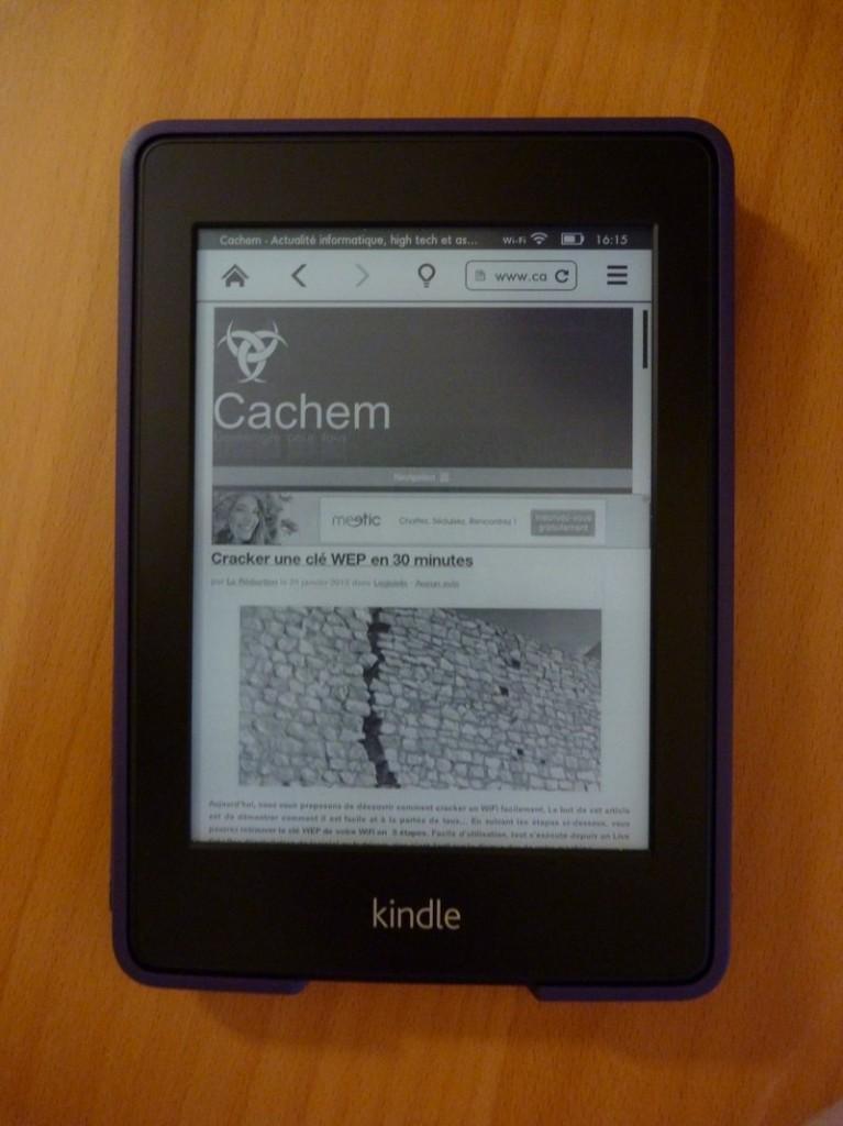 navigateur cachem 767x1024 - Test du Kindle Paperwhite