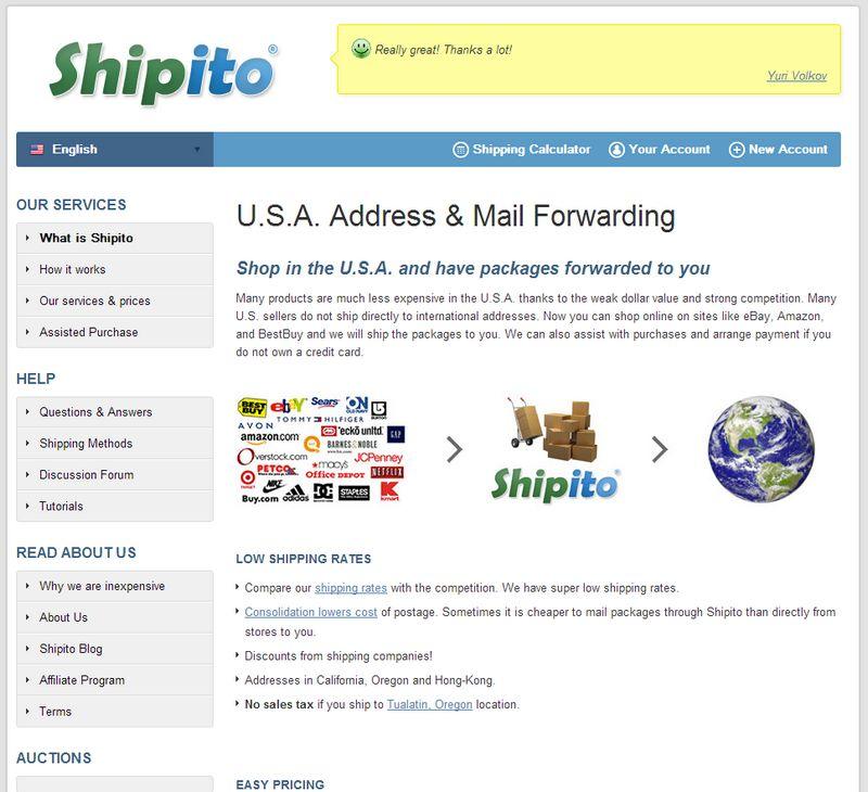 shipito - Importer facilement avec Shipito