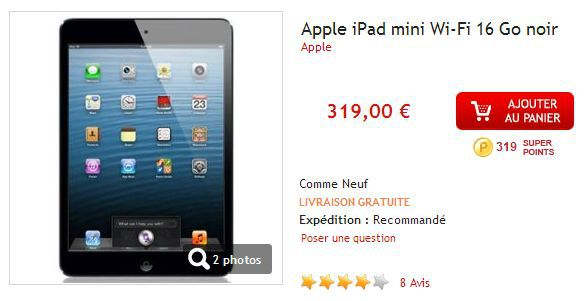 Apple iPad Mini 16Go