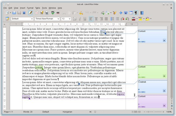 Commentaire LibreOffice