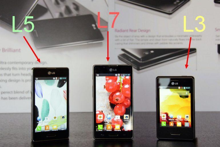 LG Optimus L Serie II L5 L7 L3 770x513 - LG lance une nouvelle gamme OPTIMUS