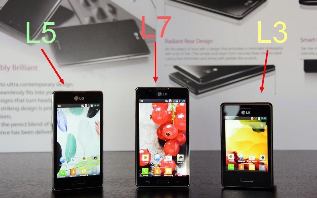 LG Optimus L Serie II L5 L7 L3 - LG lance une nouvelle gamme OPTIMUS