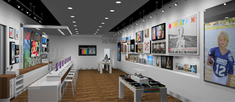 PolaroidFotobar store1 - Un Polaroïd Fotobar en Floride