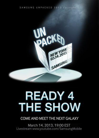 Samsung mobile S 4 - Présentation du Samsung Galaxy S4, le 14 mars