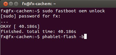 command fastboot et phablet-flash