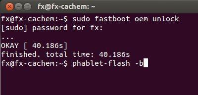command fastboot et phablet flash - Installer Ubuntu Touch en 4 étapes